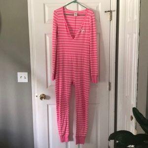 Vs pink union suit pajamas